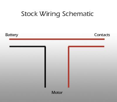 Схема коммутации транзистора: